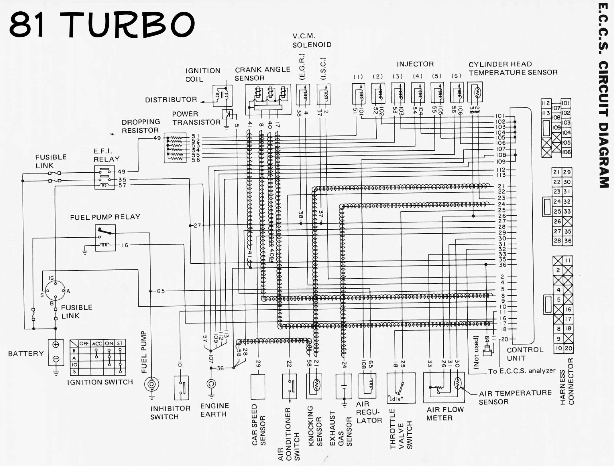 hight resolution of  n a l28e to turbo parts list 81t ecu wiring jpg