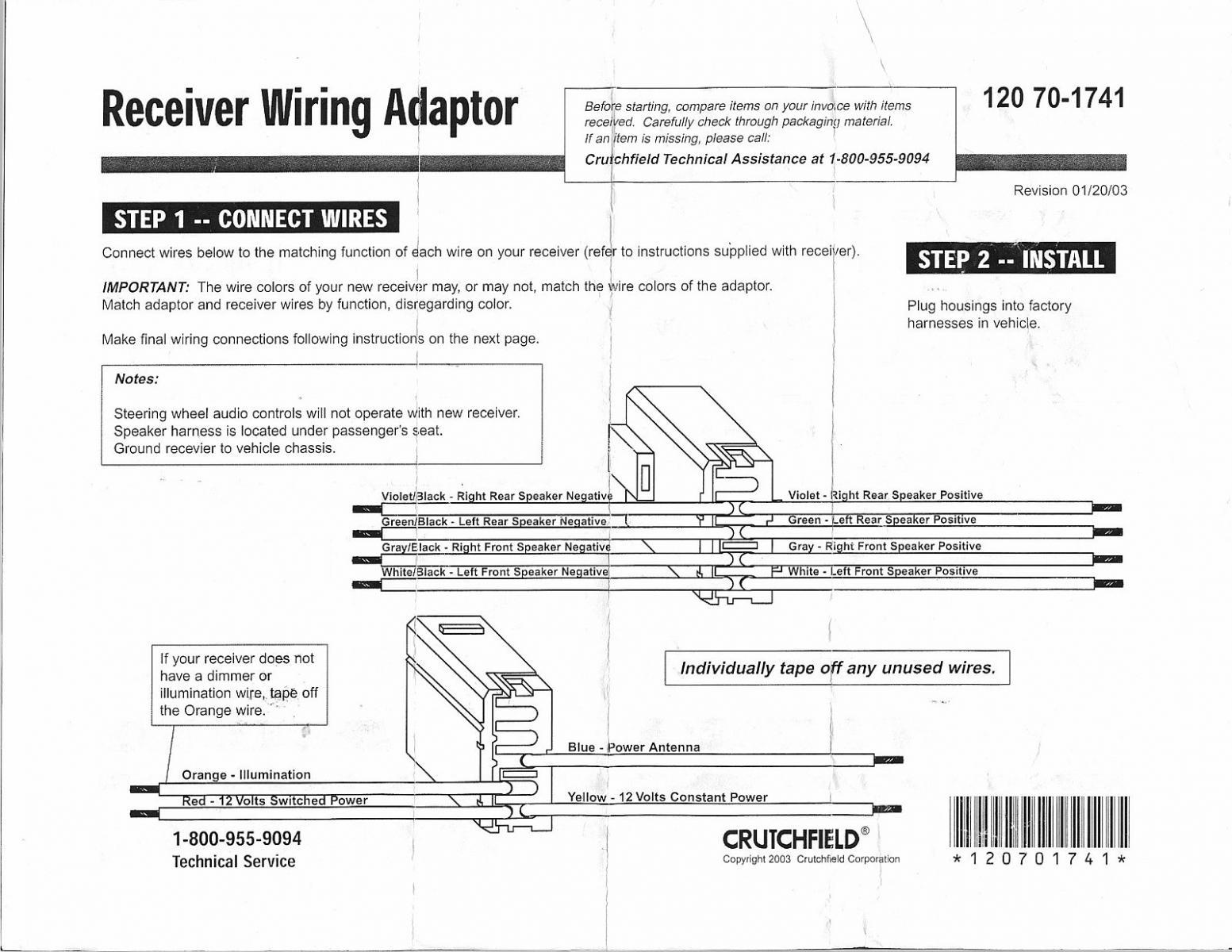 crutchfield speaker wire diagram k