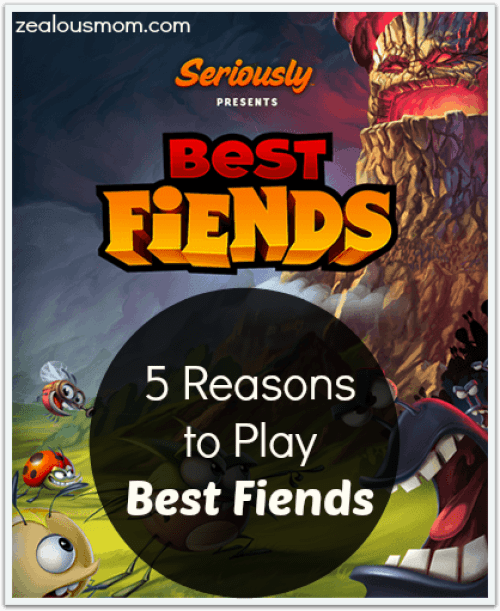 5 Reasons to Play Best Fiends @zealousmom.com #app #games