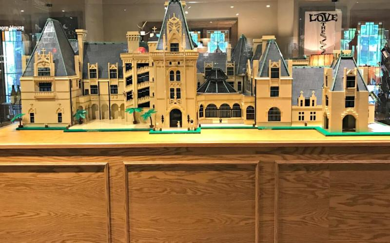 Biltmore LEGO® model and Vanderbilt train display wow visitors of all ages