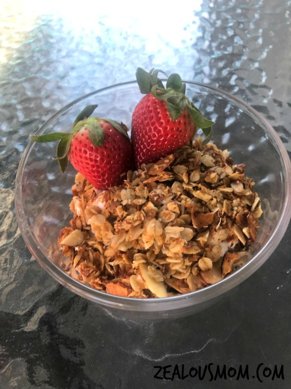 Quick & easy homemade granola everyone in the family will enjoy. @zealousmom.com