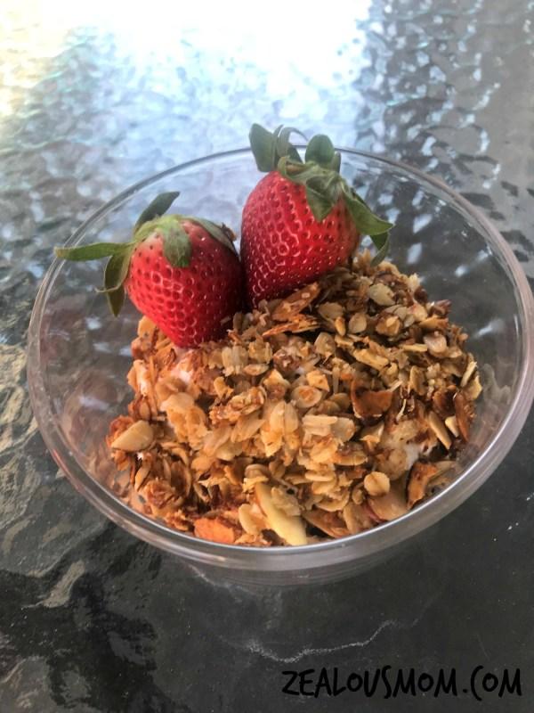 Quick & easy homemade granola everyone in the family will enjoy. @zealousmom.com