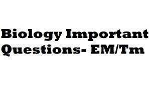 11th Biology Important Questions Tamil/ English Medium 2