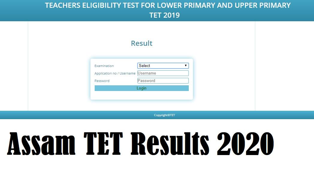 SSA Assam TET Results 2020