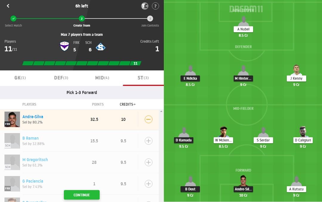 FRK vs SCH Dream11 Prediction