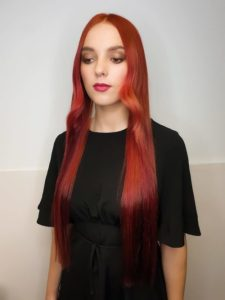 zeba-hairdressing-red-color-style-Dublin-ireland