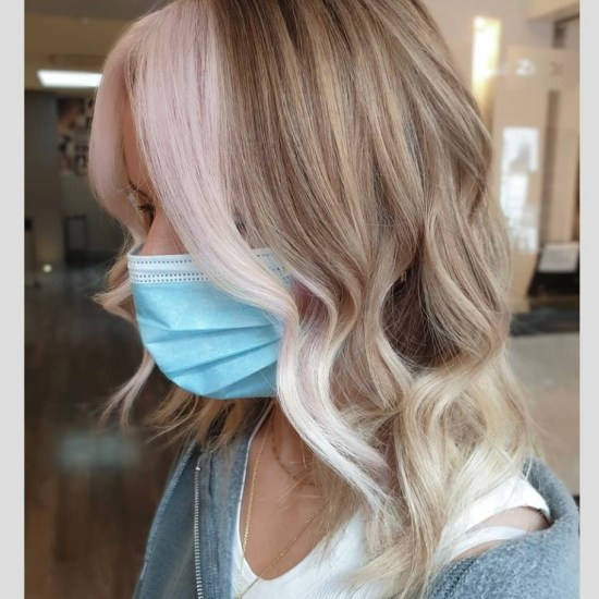 hair trends pastel colour block