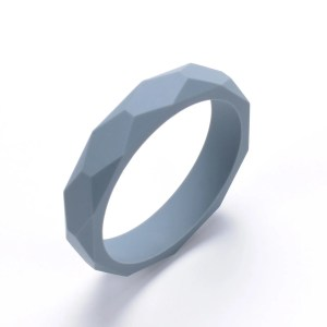 Silicone Teething Bangle Grey