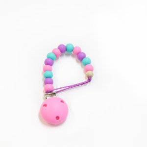 Dummy Clip Silicone Dummy Clip - Pink Purple Turquoise