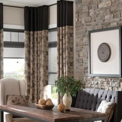 Blinds For Living Room With Curtains Black Leather Furniture 5 Unique Ways Two Different Window Treatments In The Same And Together Ideas