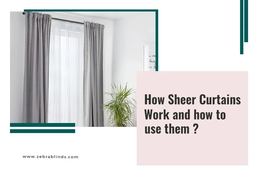 window blinds with sheer curtains work