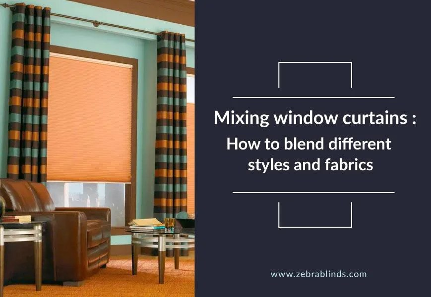mixing window curtains how to blend