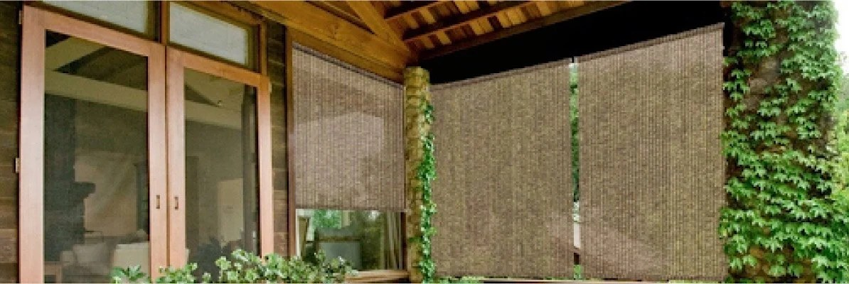 can bamboo blinds be used outdoors