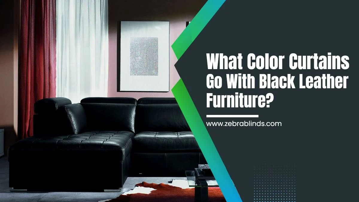 what color curtains go with black