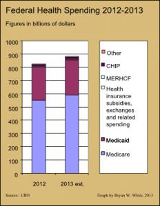 fed health spending 2012-2013