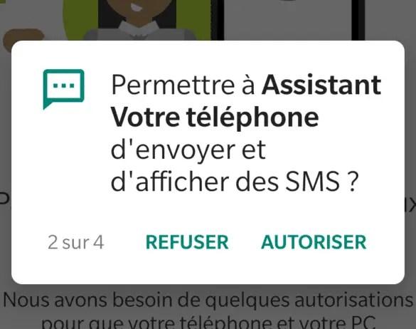 Autorisation SMS