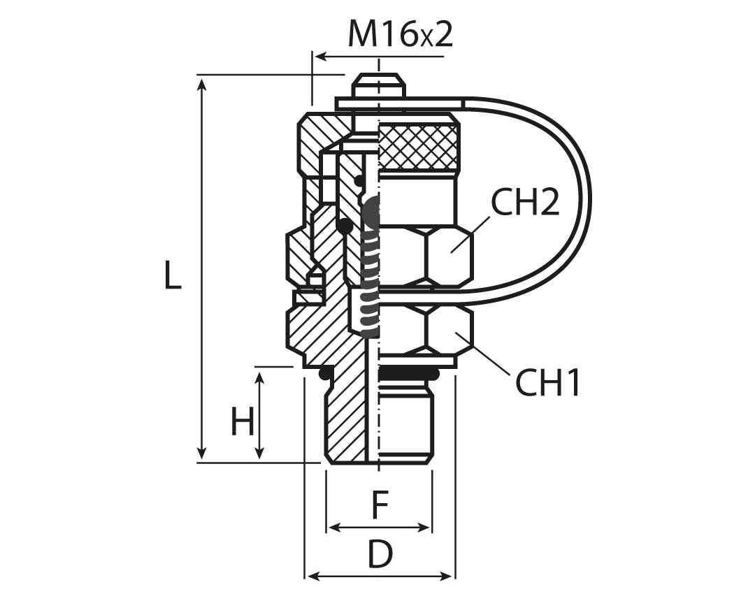 Male Parallel Thread Radial O Ring Sealing