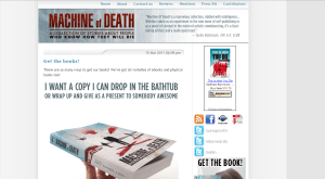Webpage of Machine of Death