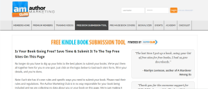 Free Kindle Submission Tool from Author Marketing Club