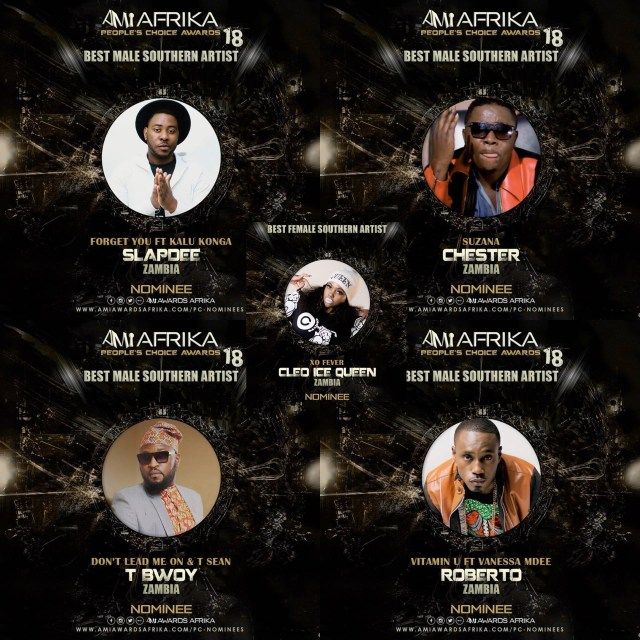 Slapdee, Roberto, Chester, TBwoy, Tsean & Cleo Ice Nominated For The African Music Industry Awards18