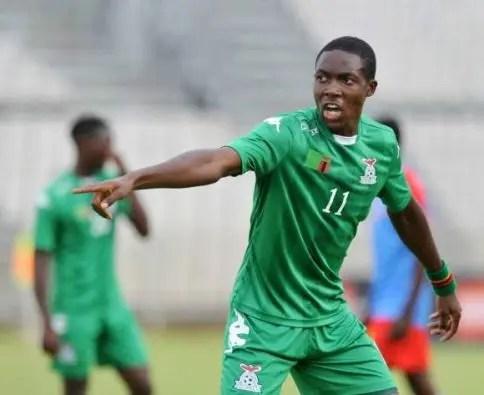 Napsa Stars player Enock Mwepu