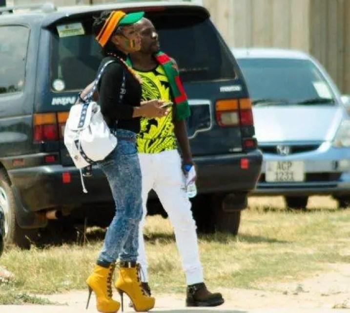 Zambian football fans