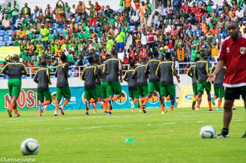 National team against Congo in the Afcon Qualifier at Levy Mwanawasa
