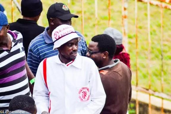 Nkana fan in a regalia