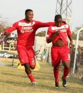 Festus Mbewe with Francis Kombe