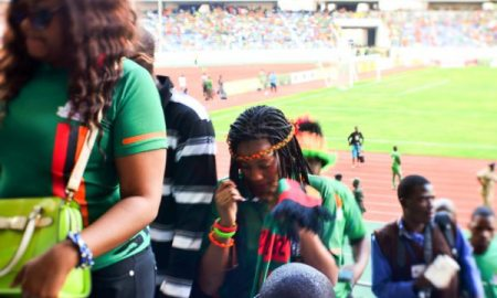 Fans in the Zambian local football