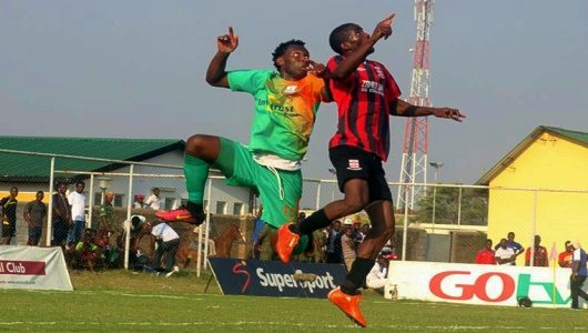 David Owino against Zanaco attack during mtn faz super league fixture 29