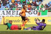 Patson Daka passed through Cameroon defense to score in the Russia World cup qualifier