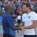Chambeshi with former Zambia assistant coach Patrice