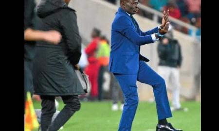 Wedson Nyirenda on the touchline