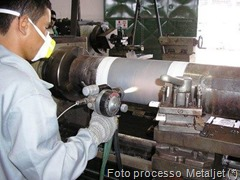 Asperção Térmica - Foto_Metaljet
