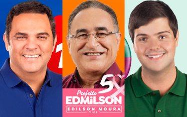 Edmilson lidera, Priante e Thiago Araújo estão tecnicamente empatados, diz pesquisa do Instituto Doxa