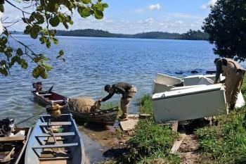 Fiscalização conjunta apreende pescado na APA Mosaico Lago de Tucuruí