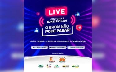 """Live """"Cultura e Conectividade"""" reunirá 50 artistas em Canaã dos Carajás"""