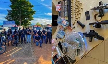 Xinguara: Polícia Civil prende sete por tráfico de drogas e posse ilegal de arma de fogo
