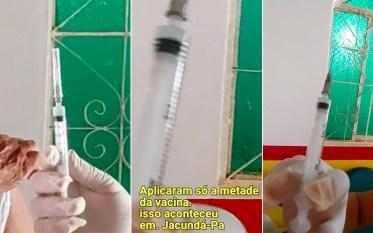 Jacundá: Servidora da Saúde suspeita de aplicar metade de vacina em idoso