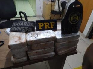 Marabá: PRF apreende 20,5 kg de pasta base de cocaína avaliada em R$ 2,5 milhões
