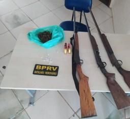 Paragominas: PRE apreende armas, munições e drogas em vicinal de acesso à comunidade do Caip