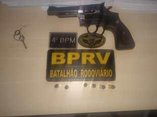 BPRv faz pente fino na fronteira com o Tocantins e apreende arma de fogo