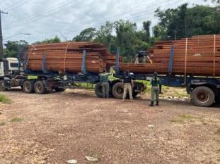PRF aperta fiscalização e apreende 72 metros cúbicos de madeira em menos de 5h no Pará
