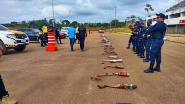 Tucuruí: CTTUC destrói 130 escapamentos kadrons apreendidos no município