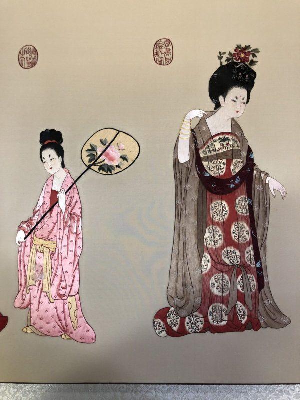 Portrait of Flower-wearing Maids