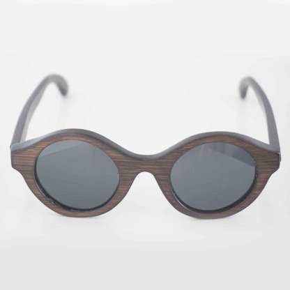 Handmade sunglasses made from DARK BROWN BAMBOO and TAC high quality polarized lenses offering UV 400 protection