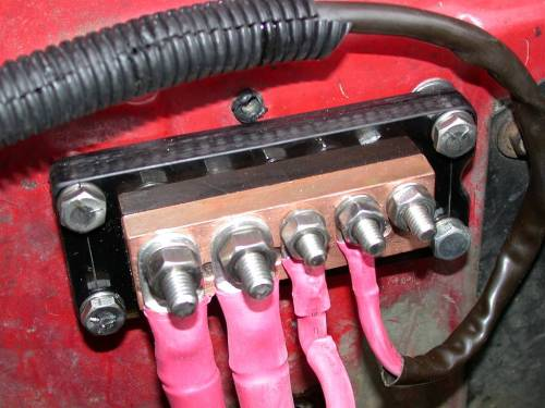 small resolution of under seat battery relocation battery wiring block battery wiring block