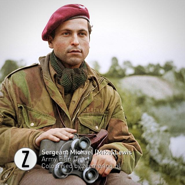 Ingekleurde foto's Market Garden. Sergeant Michael Lewis