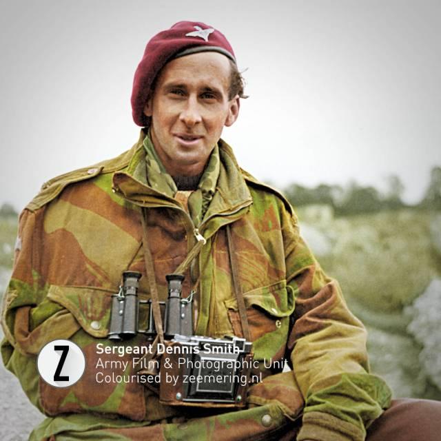 Ingekleurde foto's Market Garden. Sergeant Dennis Smith